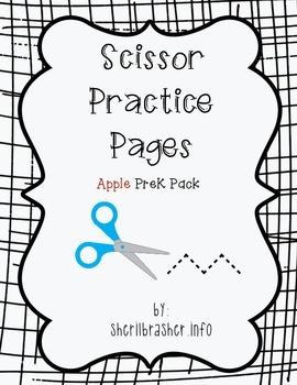 Scissor Practice Pages: Apples Pack