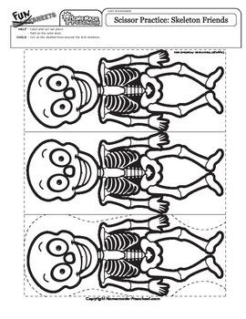 Scissor Practice Skeleton Friends