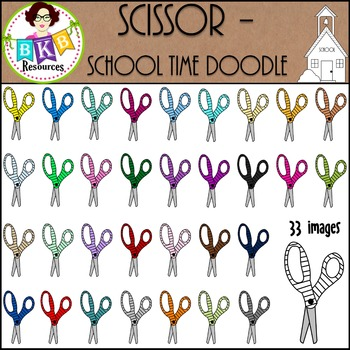 Scissor - School Time Doodle {Graphics for Commercial Use}