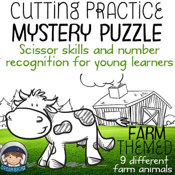 Scissor Skills – Mystery Puzzle, Farm Themed