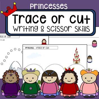 Scissor cutting skills and tracing practice - Princess Fai