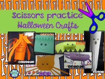 Scissors practice Halloween Crafts