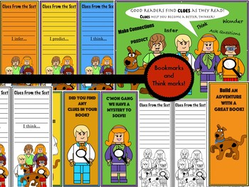 Scooby Doo Bookmarks and thinkmarks!