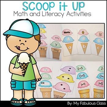 Scoop It Up - Kindergarten Math and Literacy Centers