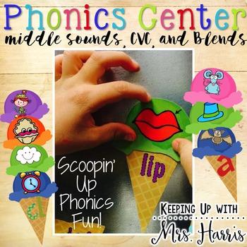 Ice Cream Phonics Center Match