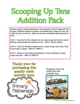 Scooping Up Tens Addition Pack