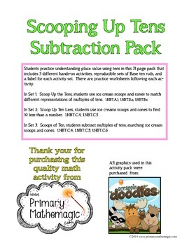 Scooping Up Tens Subtraction Pack