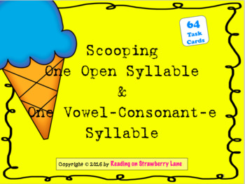 Scooping Words With One Open Syllable and With One Vowel-C