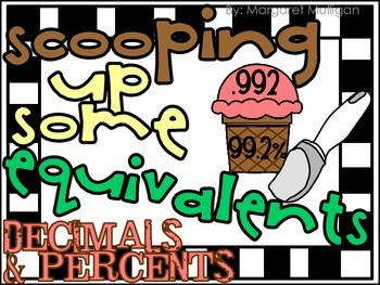 Scooping up Some Equivalents - Percents and Decimals