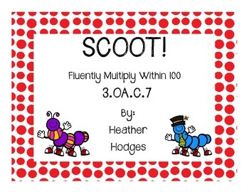 Scoot Multiplication Task Cards