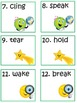 Scoot Game Task Cards Practice Advanced Irregular Verbs fo