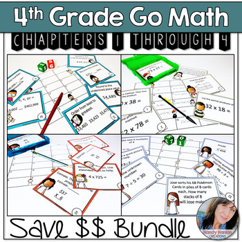 Scoot Math Game Bundle Chapters 1-4