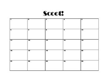 Scoot Record Sheet