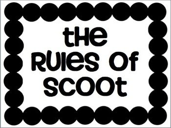 Scoot Rules and Number Cards