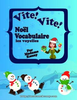 French Task Card - Cartes à tâches Vocabulaire de Noël - L