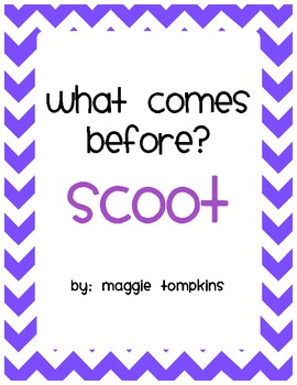 Scoot What Comes Before