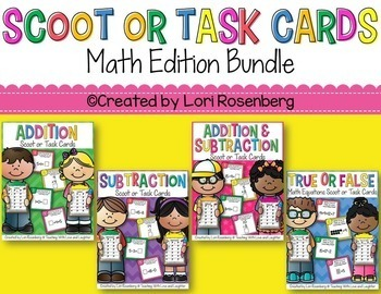 Scoot or Task Card Bundle Pack: Math Edition (4 Games)
