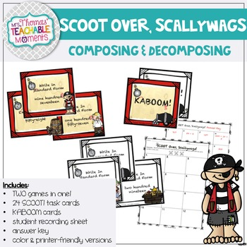"""Standard, Expanded and Word Form """"Scoot over, Scallywags!"""""""