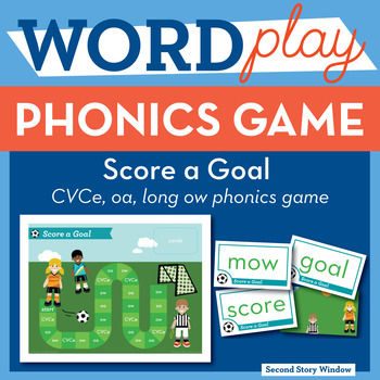 Score a Goal CVCe, oa, long ow Phonics Game