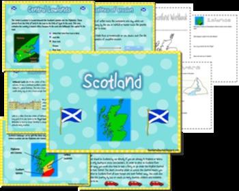 Scotland unit and map skills - geography of Scotland