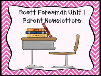 Scott Foresman 1st grade Unit 1 Common Core Parent Newsletters