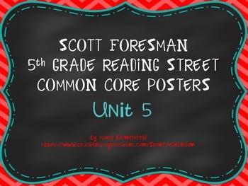 Scott Foresman 5th Common Core Posters Unit 5