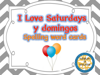 Scott Foresman I Love Saturdays y domingos Spelling Cards