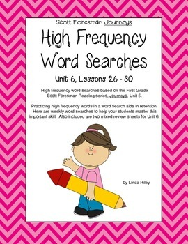Scott Foresman Journeys High Frequency Word Searches Unit 6