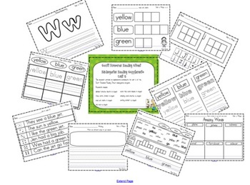 Scott Foresman Kindergarten Reading Street Unit 5 Worksheets
