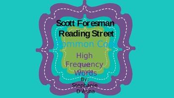 Scott Foresman Reading Street Common Core High Freguency W