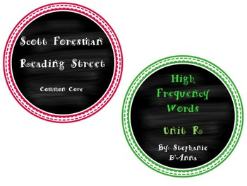 Scott Foresman Reading Street Common Core High Frequency W