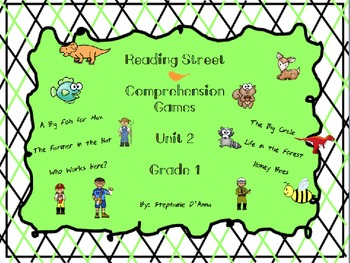 Scott Foresman Reading Street Comprehension Games Unit 2 C