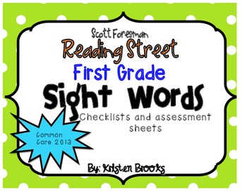 Reading Street First Grade High-Frequency/Sight Word Lists