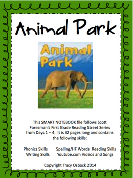 Animal Park SMARTboard Lesson Scott Foresman Reading Stree