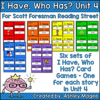 Scott Foresman Reading Street I Have Who Has Spelling Card