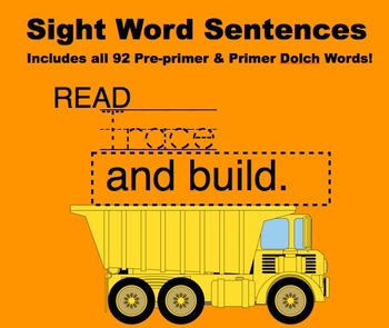 Sight Word Practice  Scott Foresman READ-TRACE-BUILD!  92 WORDS!