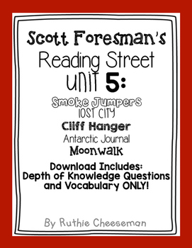 Scott Foresman Reading Street: Unit 5 Depth of Knowledge Q