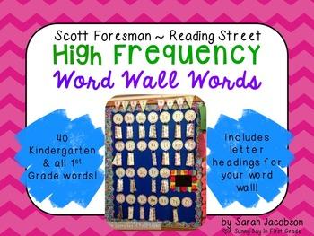 Scott Foresman Reading Street Word Wall Words {Headings In