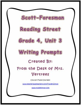 Scott-Foresman Unit 3 Grade 4 Writing Prompts with Rubric