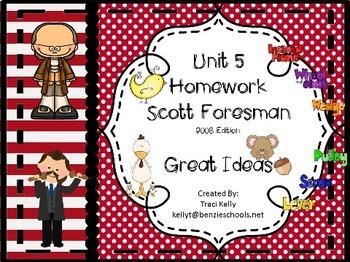 Scott Foresman Unit 5 Homework - 1st Grade