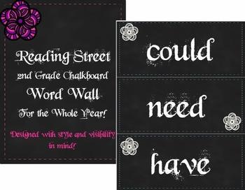 Scott Foresman's Reading Street Chalkboard Word Wall 2nd Grade