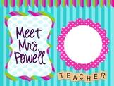 Scrabble Letter Inspired Meet the Teacher2 EDITABLE Slideshow