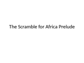 Scramble for Africa Prelude: The Portuguese