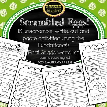 Scrambled Eggs: First Grade Word Wall Activities and Cente