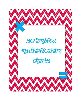 Scrambled Multiplication Chart -- freebie !