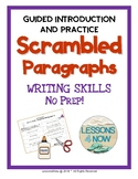 Scrambled Paragraph Writing Activities: Mini Unit
