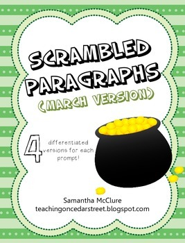 Scrambled Paragraphs (Differentiated): March Madness Version