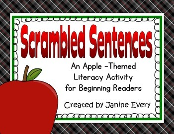 Apples Scrambled Sentences FREEBIE!