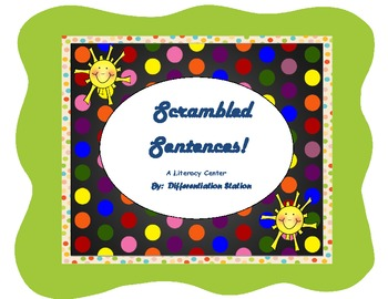 Scrambled Sentences! Differentiated Weather Literacy Cente