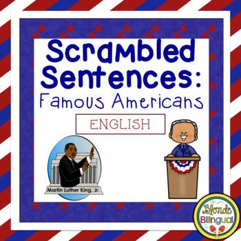 Scrambled Sentences - Famous Americans (English)